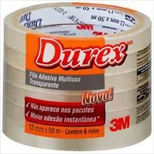 Fita adesiva Durex Transparente 12mmx50m