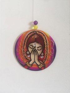 Mandala de vidro(pêndulo) M Namastê