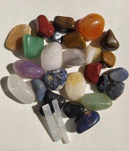 Kit Mix de Cristais e Pedras com 500gr