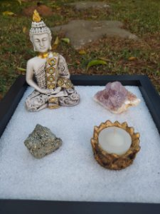Kit Jardim Zen Preto Quadrado