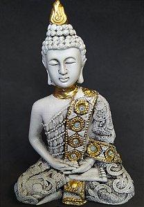 Buda Branco com Dourado