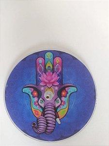 Incensário Vidro Mão de Hamsá Ganesha