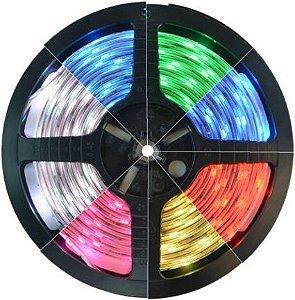Fita de Led RGB de 5 Metros com Silicone SMD 5050 300 Led'S
