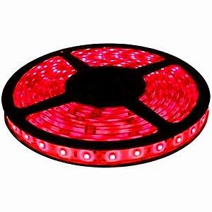 Fita de Led Vermelho com Silicone 300 Leds SMD 3528 12V Rolo de 5 Metros