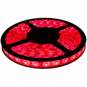 Fita de Led Vermelho com Silicone 300 Leds SMD 5050 12V Rolo de 5 Metros
