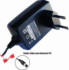 Fonte 0502 5V 2A Plug P4 2,1mm Wall Plug Horizontal Huawei
