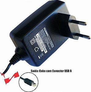 Fonte 0502 5V 2A Plug USB B Wall Plug Horizontal Huawei