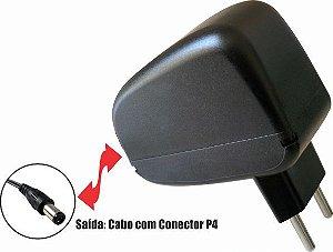 Fonte 1202 12V 2A  P4 2,1 mm Horizontal Wall Plug Vertical