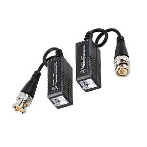 Balun de Video AHD Conector Passivo Encaixe Rápido e Conector BNC - Par