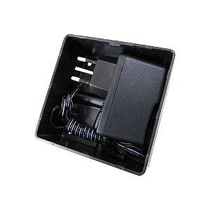 Caixa Organizadora Preta para CFTV com Fonte 12V 1A