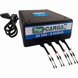 Carregador De Celular Topcarga 5V 10A 8 Saídas Cx H