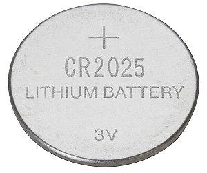 Cartela com 5 unidades Bateria CR2025 3V