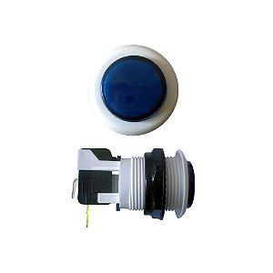 Chave Botão Acrílico Azul com Microswitch