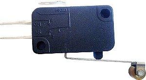 Chave Microswitch 15A 250V - 8A 150V Haste Longa com Roldana