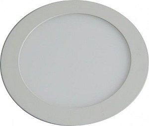 Plafon 12W De Led Para Embutir Branco Frio Redondo Bivolt