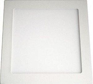 Plafon 18W De Led Para Embutir Branco Frio Quadrado Bivolt