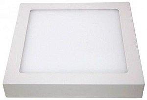 Plafon 25W  De Led De Sobrepor Branco Frio Quadrado Bivolt