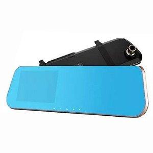 Kit Câmera de Ré e Retrovisor com Monitor LCD com Câmera Frontal