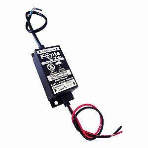 Fonte Blindada 0901 9v 1a Fio Fio (C95 L40 A31 Mm) Micro
