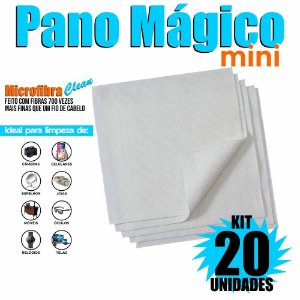 Kit 20 Unidades Panos Mágicos Mini 9,8X9,8 cm