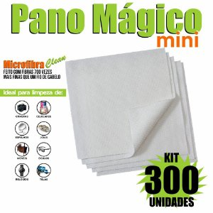 Kit 300 Unidades Panos Mágicos Mini 9,8X9,8 cm