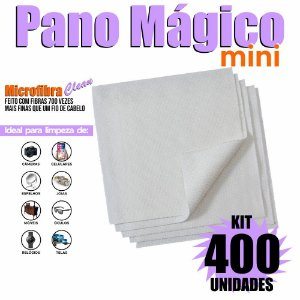 Kit 400 Unidades Panos Mágicos Mini 9,8X9,8 cm