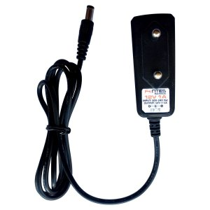 Fonte 1201 12V 1A  Vertical SHO Wall Plug Cabo 1Metro Plug P4 2,1mm Com Garra