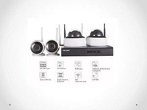 kit completo para monitoramento sem fio HIKVISION