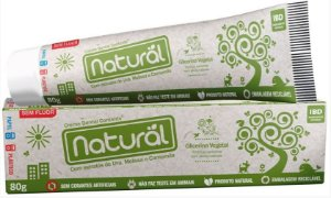 Creme Dental Natural com Extratos de Uva, Melissa e Camomila - Orgânico Natural