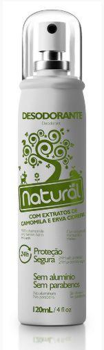 Desodorante Natural com Extratos de Camomila e Erva Cidreira - Orgânico Natural