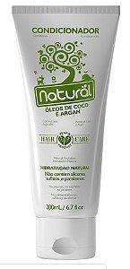 Condicionador Natural com Óleos de Coco e Argan - Orgânico Natural