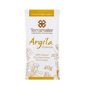 Máscara de Argila Dourada Orgânica 40g - Terramater