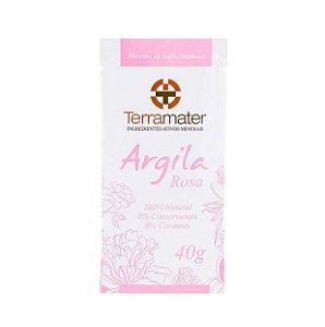 Máscara de Argila Rosa Orgânica 40g - Terramater