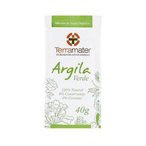 Máscara de Argila Verde Orgânica 40g - Terramater