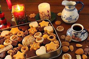 Lata com biscoitos mistos