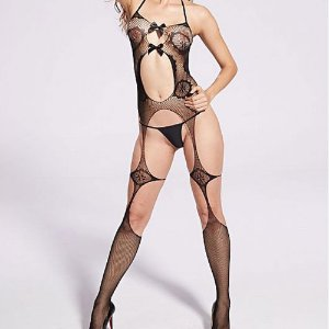 Macacão Rendado Bodystocking