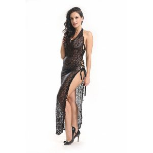 Vestido Rendado Preto - Bodystocking