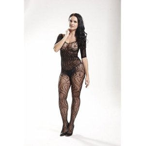 Macacão Longo Rendado Bodystocking