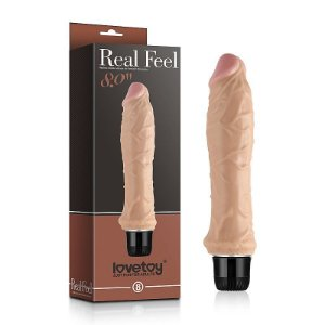 Pênis Real Feel com Vibro CyberSkin 20 x 3,5 cm