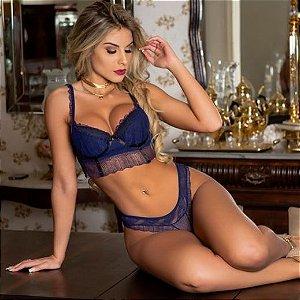 Conjunto Sensual Fancy - Azul