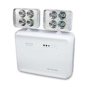Iluminação de Emergência LED 2200 Lumens 2 Faróis Segurimax