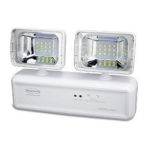 Iluminação Emergência LED 400 Lúmens 2 Faróis Segurimax