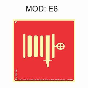 Placa Fotoluminescente E6 20x20cm identificação de Mangotinho Sinalização para Equipamentos Imprefix