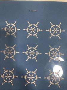 Stencil  roda leme 15x15