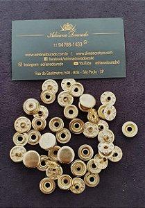 Botão de Pressão 80 Dourado