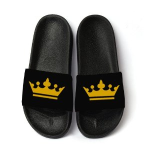 Chinelo Coroa Slide Sandalia Masculina King Unissex Top!