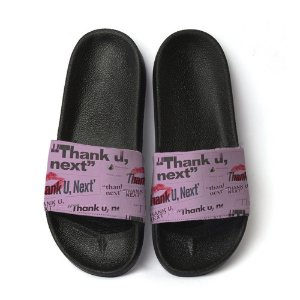 Chinelo Slide Unissex Thank You Next Ariana Grande