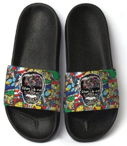 Chinelo Slide Stan Lee Comic Super Heróis Homenagem Top !