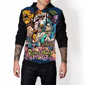 Blusa De Frio Rick e Morty  Estampa Full Moletom Unissex REF 60