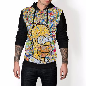 Blusa De Frio Homer Simpson Estampa Full Moletom Unissex REF 88